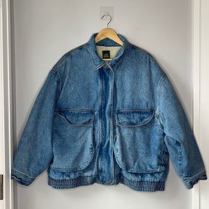 WILD FABLE SHERPA LINED JEAN JACKET DENIM - 80's Mom Vibe